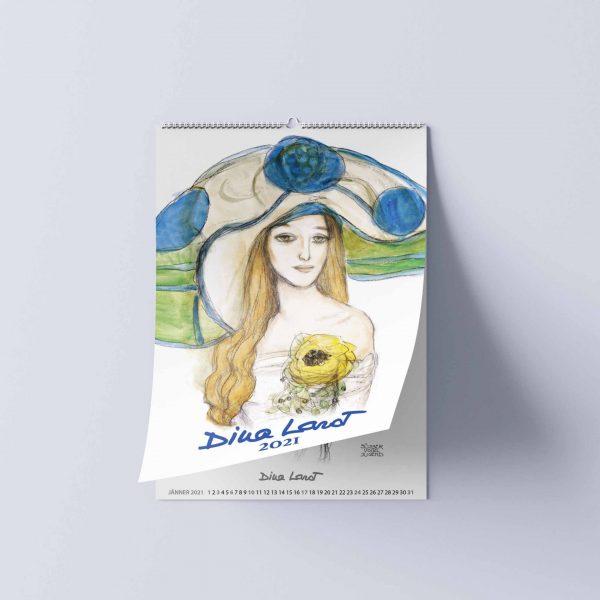 Kalender Fotografie, Layout, Lithografie und Druckproduktion - Dina Larot