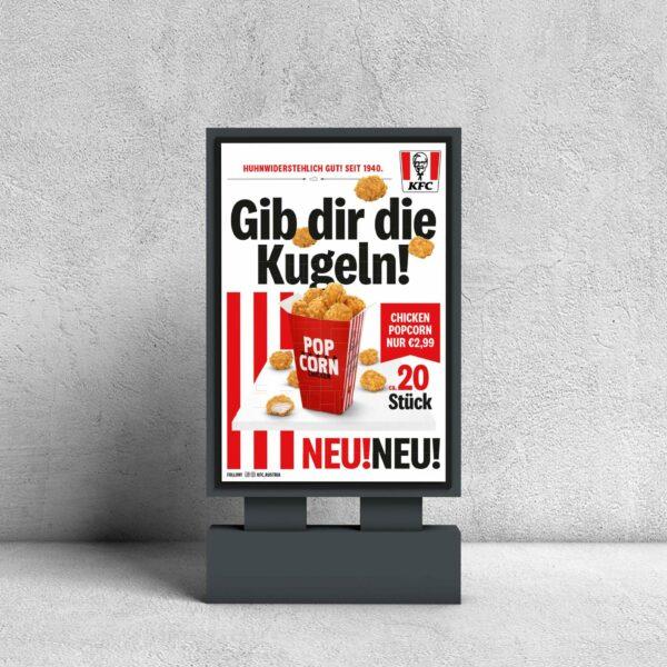 Citylight Reinzeichnung - KFC